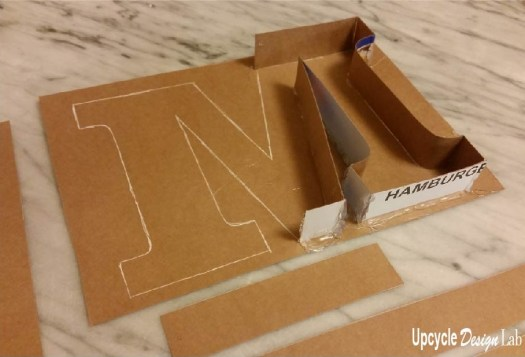 Making a cardboard mold for styrofaom