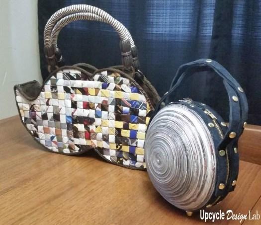 Two no sew paper purses