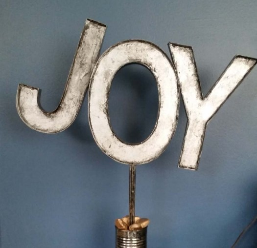 faux metal letters made from upcycled cardboard