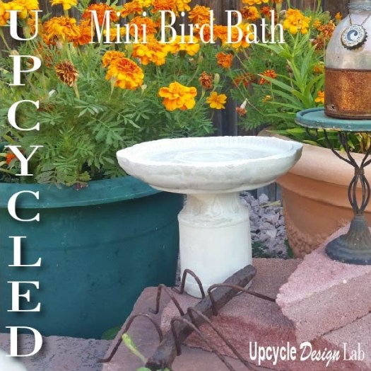 Mini Cement Bird Bath