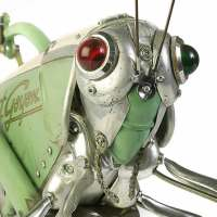 Sculptures made from upcycled bits and pieces by Edouard Martinet