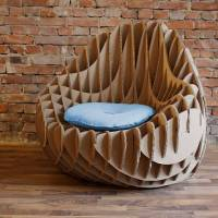 MC 205: Cardboard Armchair by Nordwerk recyclingDESIGN