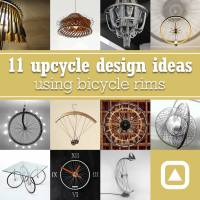 11 upcycle design ideas using bicycle rims