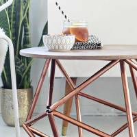 DIY: Himmeli Side Table from Copper Pipe by Brittany Cramer