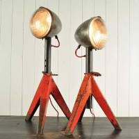 Upcycled Jack Stand Lamps by Original House