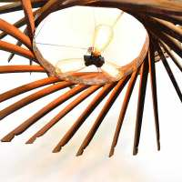 CRAFTSMAN HELICOID: swirling barrel stave chandelier by Wine Country Craftsman