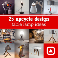 25 upcycle design table lamp ideas