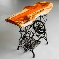 ENTRYWAY TABLE: elegant wood and ironware by Jonathan Tommey