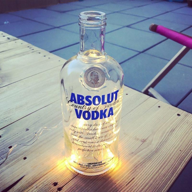 DIY Flaschenlicht