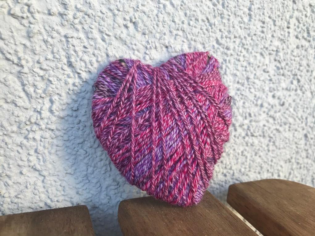 Herz aus Wolle