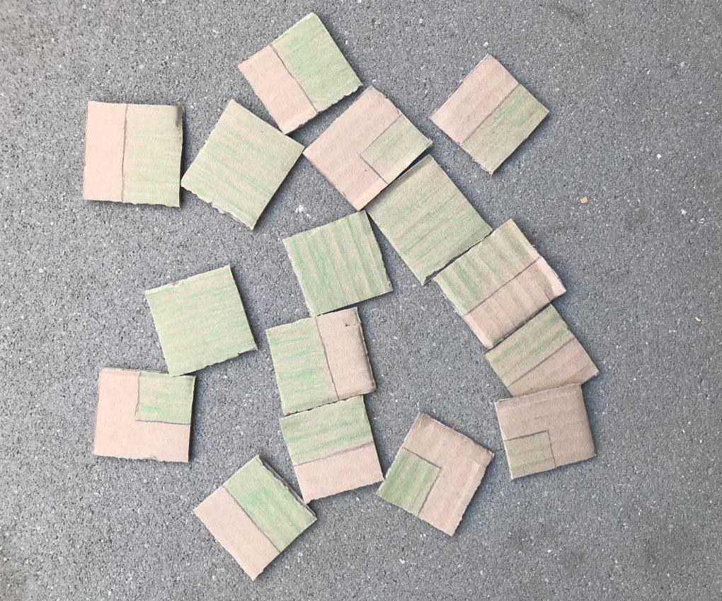 Puzzle aus Karton