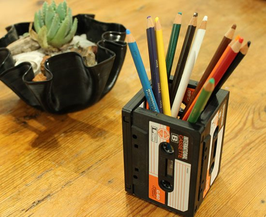 upcycled tape cassettes