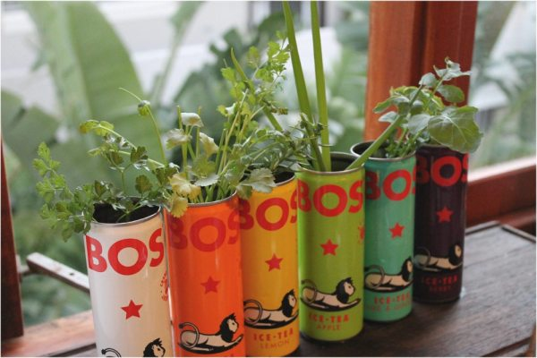 upcycled can planters