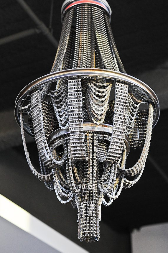 Bicycle Chain Chandeliers   Upcycle That