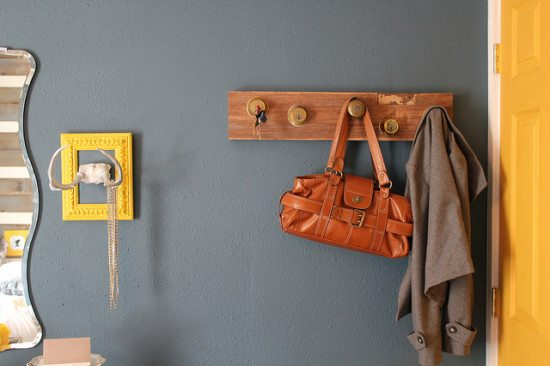 upcycled key rack