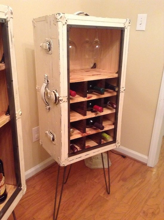 Steamer Trunk Liquor Cabinet