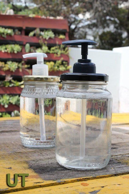 glass jar soap dispenser