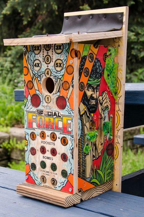 pinball birdhouses