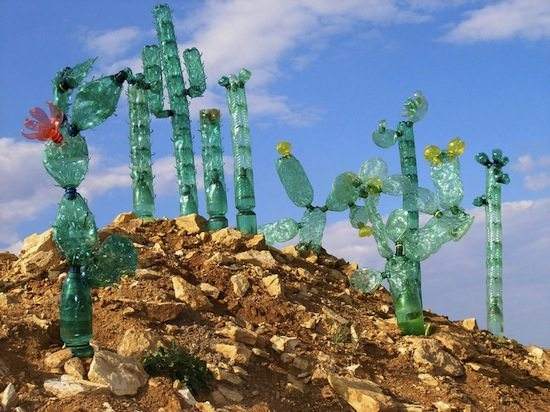 plastic bottle art
