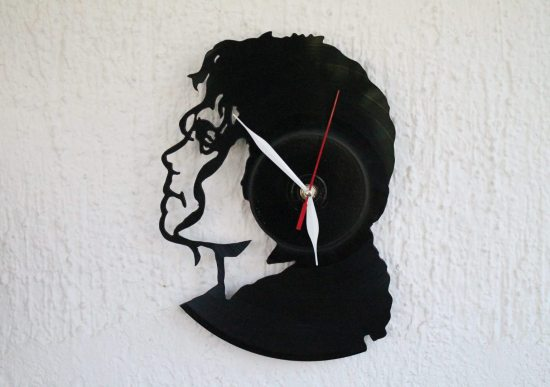 Michael Jackson Record Clock Art
