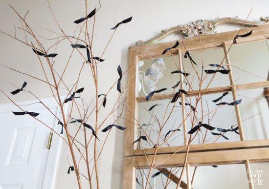 Halloween Decor - Bat Branches