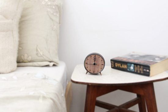 Clock No.7 – Walnut and Black