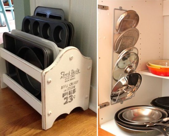 Kitchen Organization Ideas - Magazine Rack Storage
