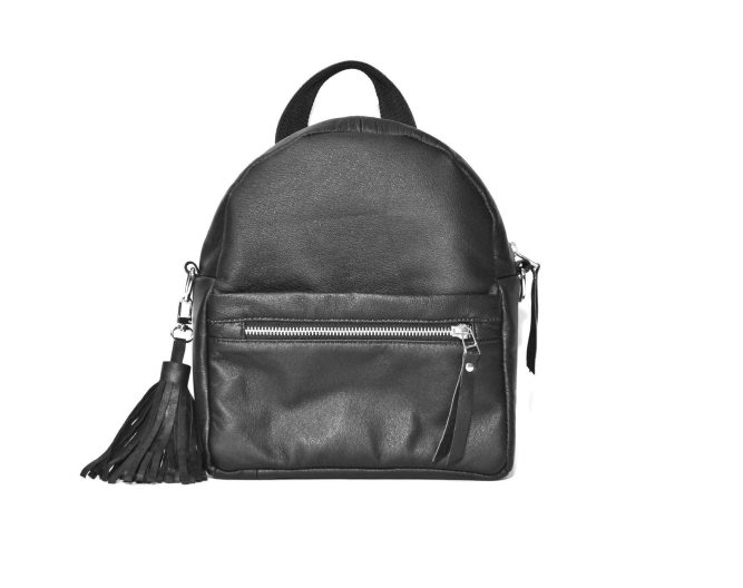 Upcycled leather backpack – The Midi