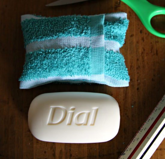 Camping hacks - soap pouch