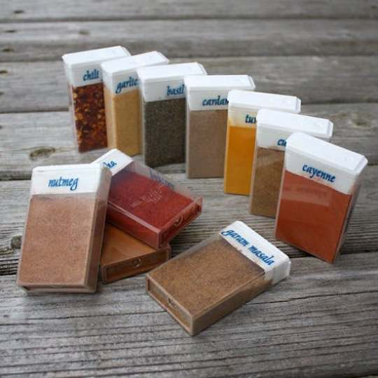 Camping hacks - tic tac spice boxes