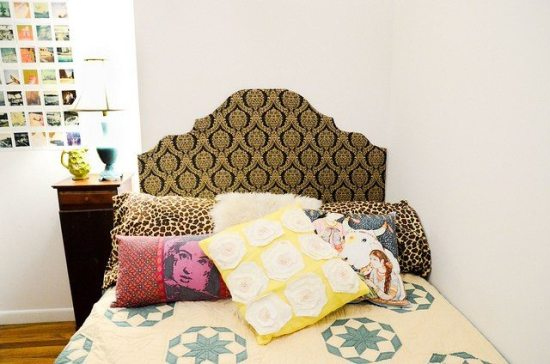 Dorm room ideas - DIY headboard