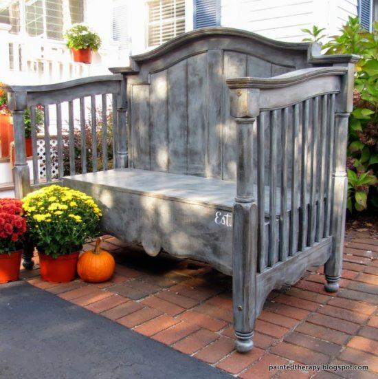 Repurposed Crib