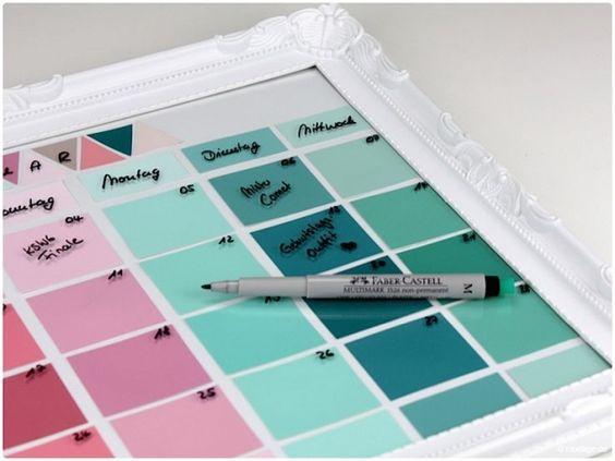 DIY Calendar - Paint Chip Calendar