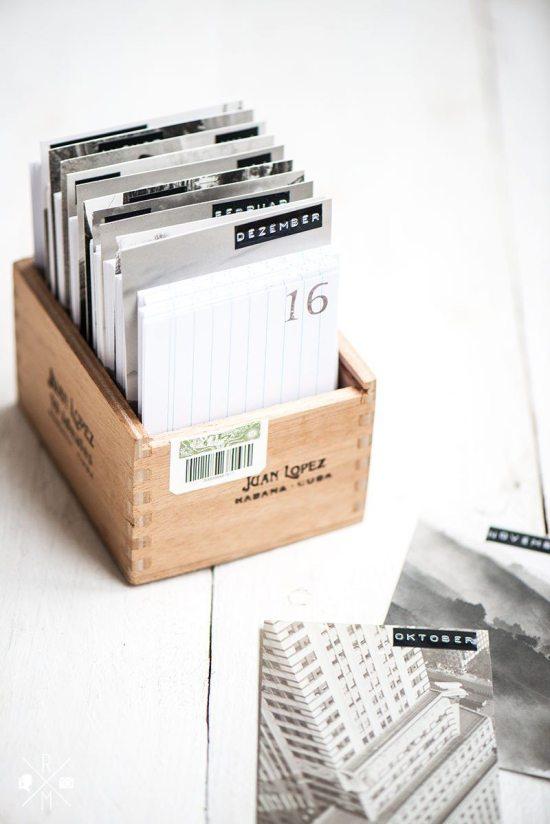 DIY Calendar - Box Calendar