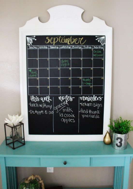 DIY Calendar - Thrift Store Calendar