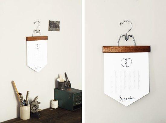 DIY Calendar - Pant Hanger Calendar