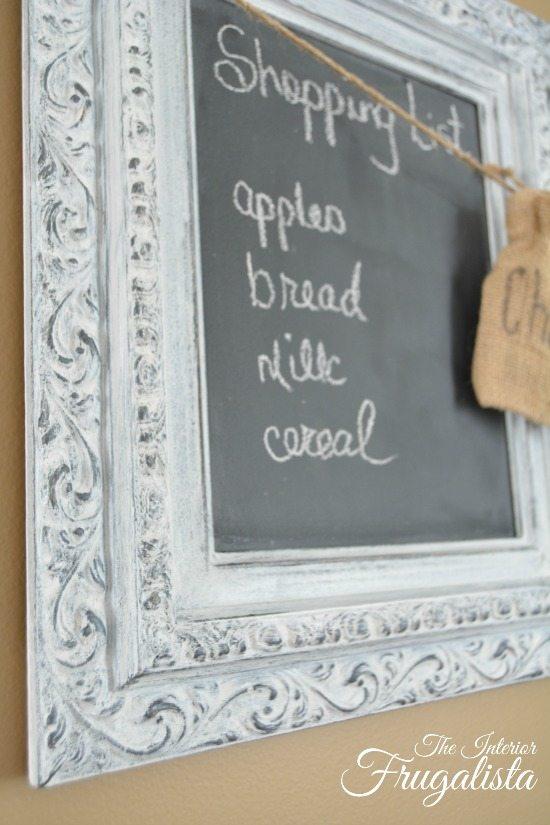 Repurpose Old Picture Frames - Chalkboard Frame