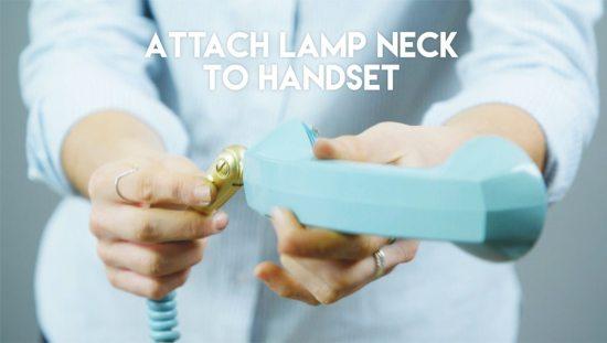 Phone lamp - attach lamp neck