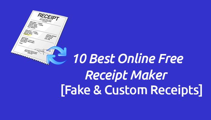 online free receipt maker