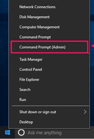 Command Prompt Admin