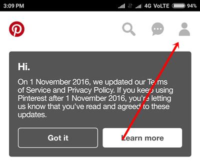 Pinterest Profile icon