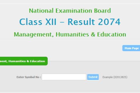 NEB Class 12 Result 2074