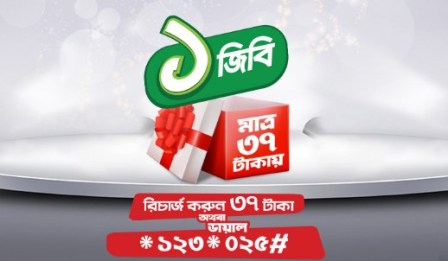 Robi 1GB 37Tk Offer