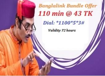 Banglalink 110 Minute 43Tk Offer