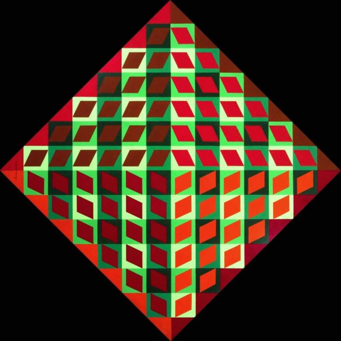 Banya 1964 Victor Vasarely 1908-1997 Purchased 1965 http://www.tate.org.uk/art/work/T00753