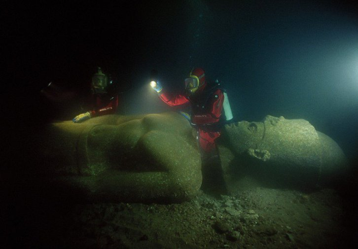 Underwater Cleopatra's palace