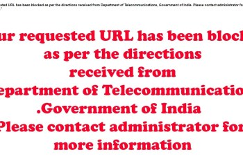 url blocked in India