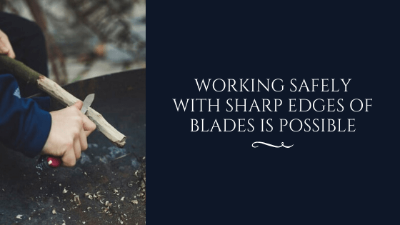A Person Working Safely with Sharp Edges of Blade