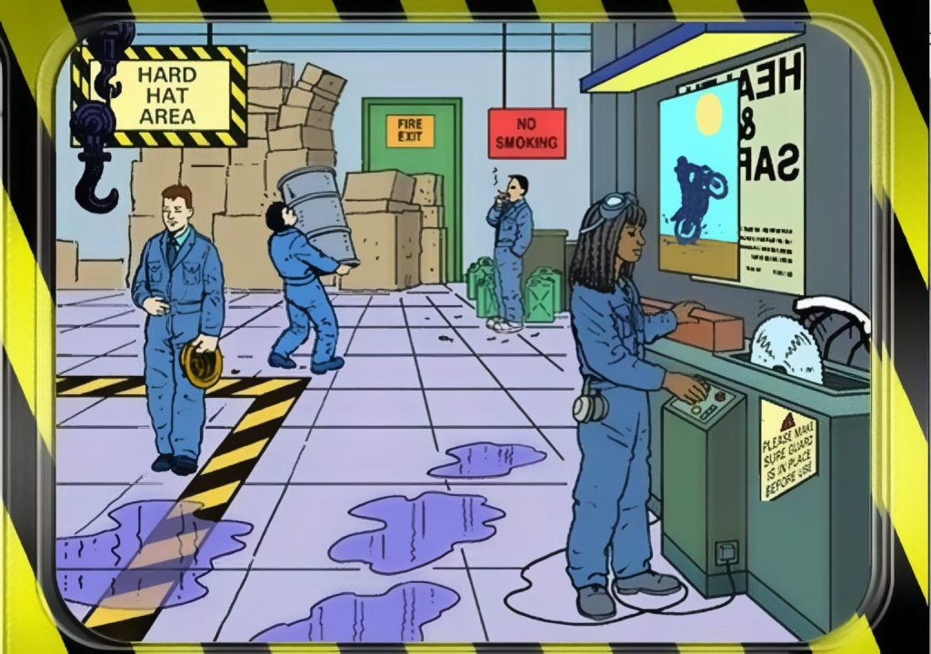 Spot the Hazard at workplace interactive quiz