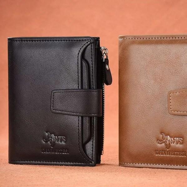 Vintage Men PU Cowhide Leather Multi-Functional Wallet 5